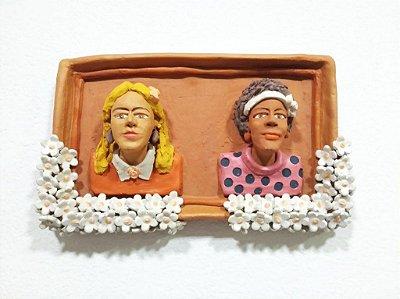 Quadro Casal em Cerâmica - MG