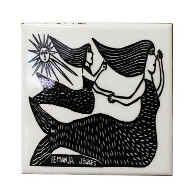 Azulejo em Xilogravura Iemanja J. Borges - PE
