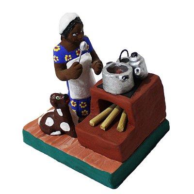 Escultura Cozinheira Figureiras de Taubaté - SP