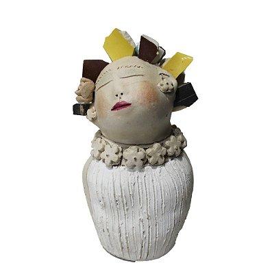 Boneca em Cerâmica - Nené Cavalcanti