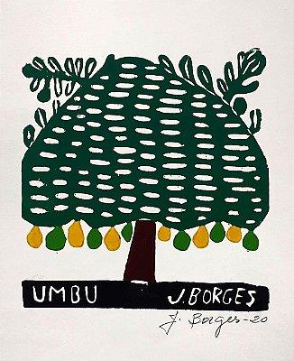 """Xilogravura """"Umbu"""" P - J. Borges - PE"""