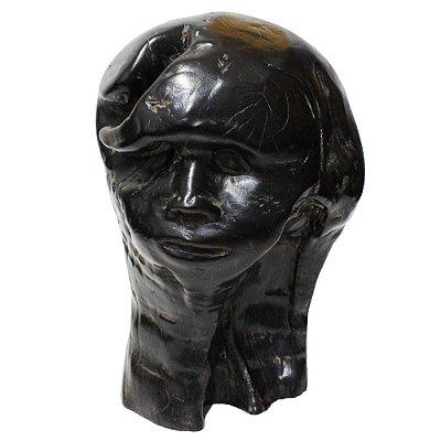 Escultura Madeira Cabeça Neusso  - ES