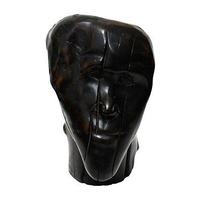 Escultura Cabeça Homem Madeira Neusso - ES