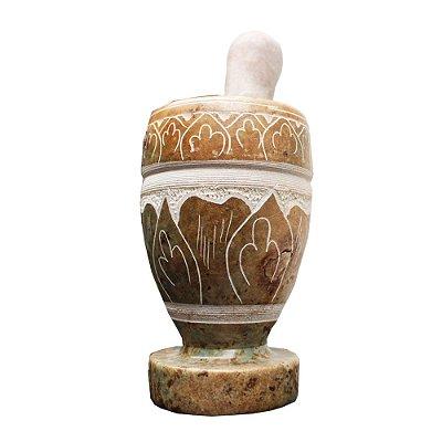 Pilão Bordado Pedra Sabão - MG