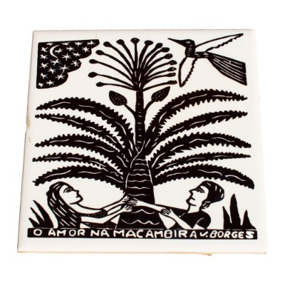 Azulejo em Xilogravura O Amor na Macambira J. Borges - PE