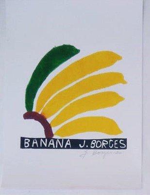 Xilogravura J. Borges Banana P- PE