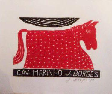 Xilogravura J. Borges Cavalo-Marinho P- PE