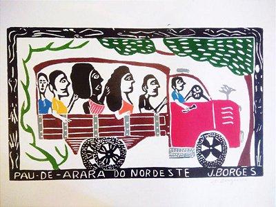 Xilogravura J. Borges Pau-De-Arara do Nordeste G - PE