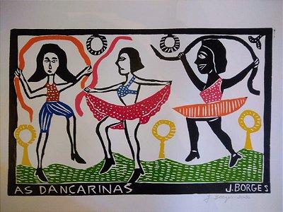 Xilogravura J. Borges As Dançarinas G - PE