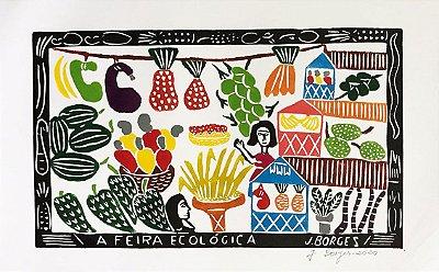 Xilogravura J. Borges A Feira Ecológica G - PE