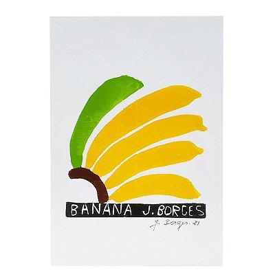 """Xilogravura """"Banana"""" P - J. Borges - PE"""
