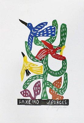 "Xilogravura ""Faxeiro"" M -  J. Borges - PE"