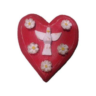Coração com Divino Espirito Santo Gervásio - MG