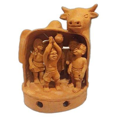 Escultura boi da Nena de capela -AL
