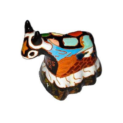 Boi em cerâmica esmaltada P -MA