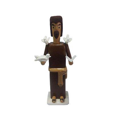 São Francisco em madeira do Mestre Heleno- PE