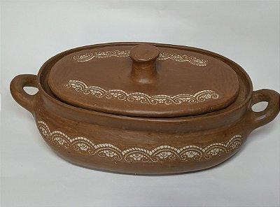 Panela oval cerâmica cascavel -CE