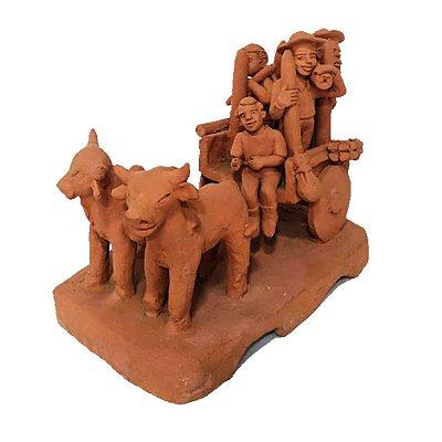 Escultura carro de boi  da Nena de capela -AL
