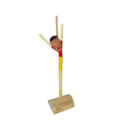 Acrobata em madeira do Yang P- AL