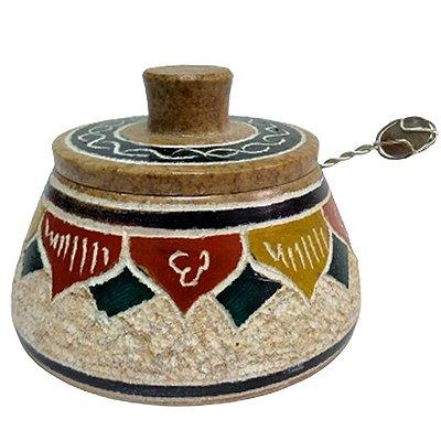 Pimenteira Bordado em Pedra Sabão (cores variadas) - MG