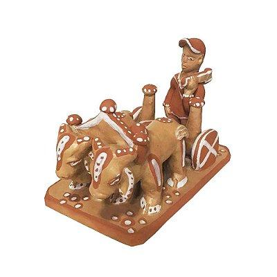 Carro de Boi em cerâmica da Mariane - MG