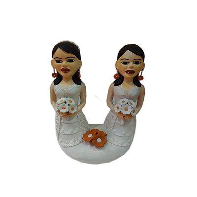 Noivas Gêmeas com buquê Durvalina  - MG
