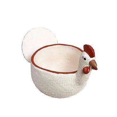 Porta ovo branco - Fatinha