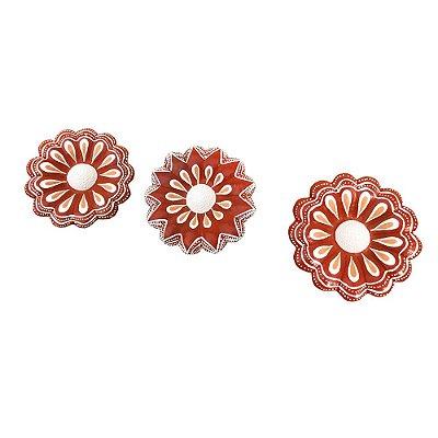 Trio de flor vermelha - Fatinha