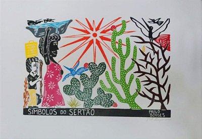 Xilogravura J. Borges Símbolos do Sertão G - PE