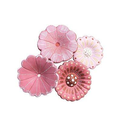 Bouquet de 4 flores rosa - variadas