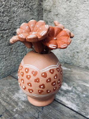 Vasinho bege florzinha M - Georgina