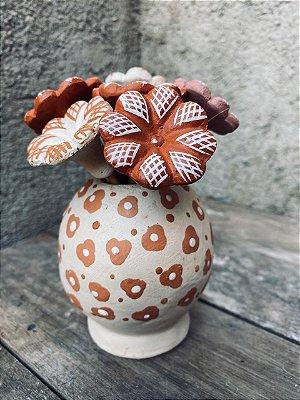 Vasinho branco florzinha M - Georgina