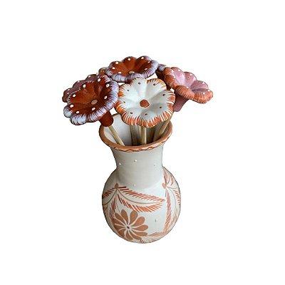 Vaso P com 7 flores - Maria Tereza
