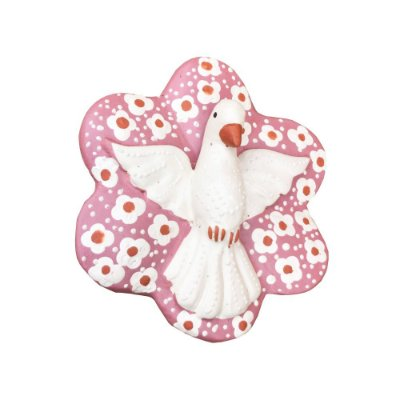 Divino Flor rosa com florzinhas - Marlucia - Vale do Jequitinhonha - MG