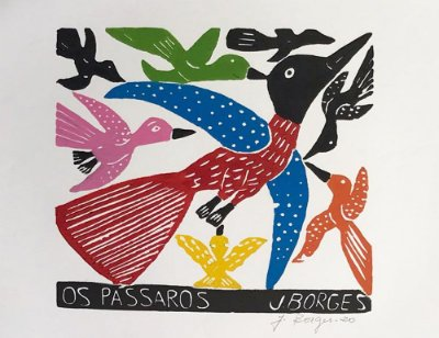 Xilogravura J.Borges Os Pássaros M - PE