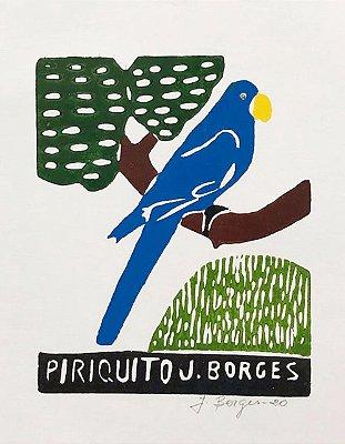 Xilogravura J.Borges Piriquito P- PE