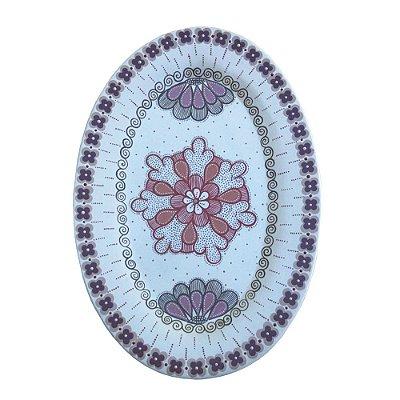 Prato Oval Parede Branco M - Nusa