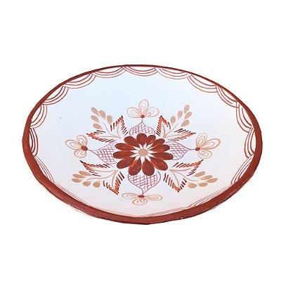 Bowl Branco Raso - Rosa B