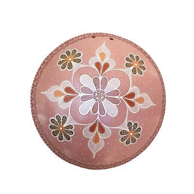 Mandala de parede rosa - Nusa - Vale do Jequitinhonha - MG