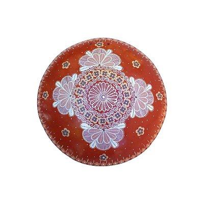 Mandala de parede vermelha - Nusa - Vale do Jequitinhonha - MG