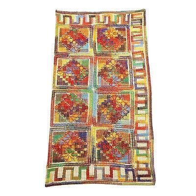 Toalha quadrada de renda de filé - 1,90 x 1,90 - CE