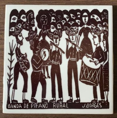"Azulejo PB ""Banda de Pifano Rural"" do J. Borges P - PE"