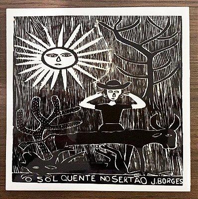 """Azulejo PB """"O Sol Quente no Sertão"""" do J. Borges M - PE"""