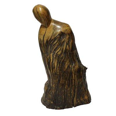 Escultura abstrata madeira - Nelsso - ES