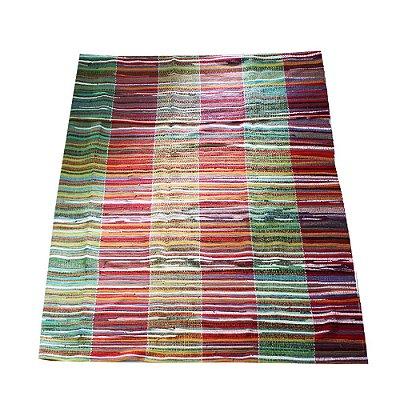 colcha em tear  1.80 x 2.45 colorido - MG