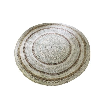 tapete redondo de fibra de buriti e bananeira  1,40  -  CE