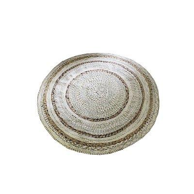 tapete redondo de fibra de buriti e bananeira  1,10  -  CE