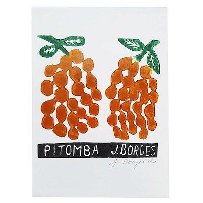 """Xilogravura """"Pitomba"""" P - J. Borges - PE"""