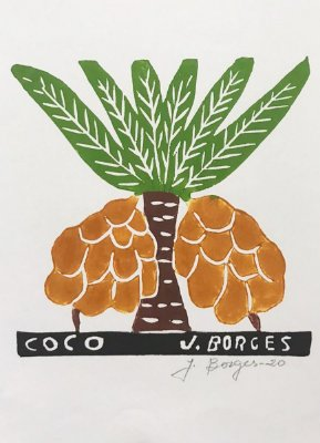 Xilogravura J. Borges Coco P- PE