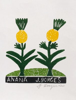 Xilogravura J. Borges Ananá P- PE